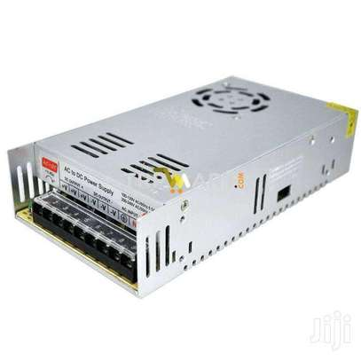 12V 30A Switching Power Supply With a Cooling Fan Adapter image 1