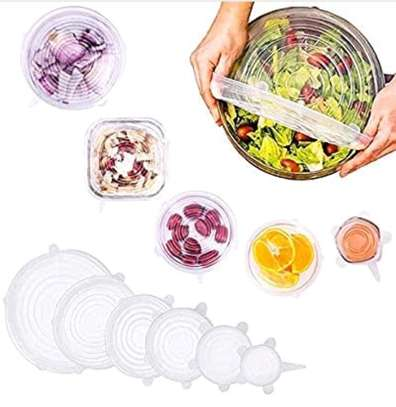 6pcs silicone food cover image 1