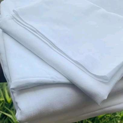White cotton 6×6 bedsheets image 1