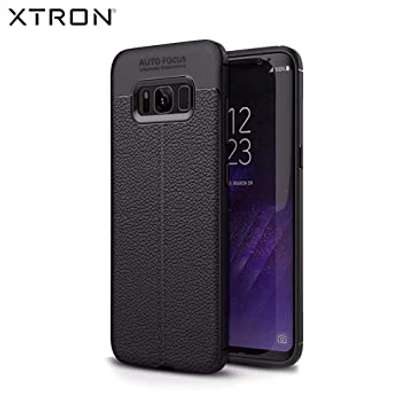 Auto Focus Leather Pattern Soft TPU Back Case Cover for Samsung S8/S8 Plus image 3