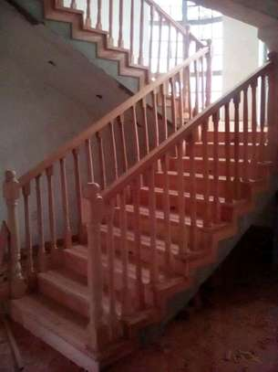 Mahogany stairs and installation image 2