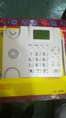 SQ LS 180 Dual Sim Desktop Office Phone With FM Radio 2000mah Battery image 6