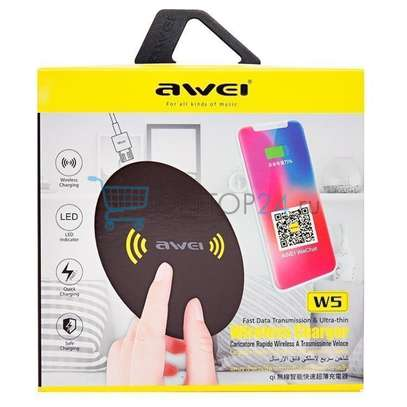 Awei W5 Ultra Thin Wireless Charger image 1