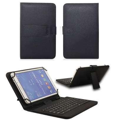 Universal Folding Leather Folio Case Cover Stand & Micro USB Keyboard for Samsung Tab S2 9.7 inches image 2
