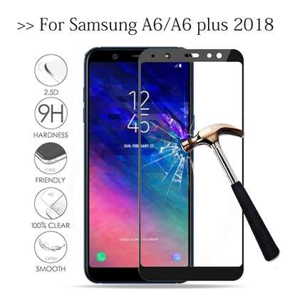 5D HD Clear Tempered Glass Front Screen Protector for Samsung A6 2018/ A6 Plus 2018 image 4