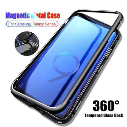 Magnetic Luxury Absorption Cases For Samsung Note 9 Clear Back Glass image 1