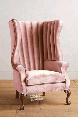 One seater sofa/king size chair/modern sofas/pink couch/single sofas image 1