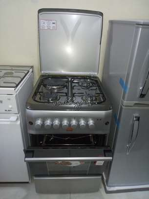 Von Hotpoint Cooker F5N31E2.S.E/VAC5F031PS 3 Gas +1 Electric - Silve