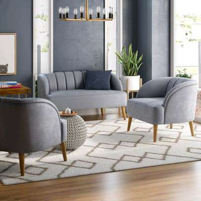 Three seater grey tufted sofas/Single seater sofas for sale in Nairobi Kenya/Five seater sofas image 1