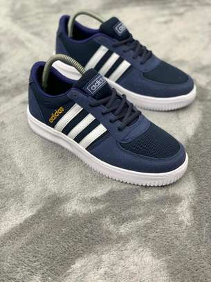 Blue assorted unisex Adidas quality sneakers image 1