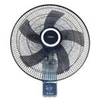 "Mika MFW183R/GB - 18"" Wall Fan, 60W With Remote, Grey & Black image 1"