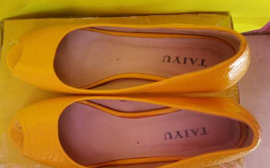Yellow Everyday Official & Casual Peep Toe Shoes. image 2