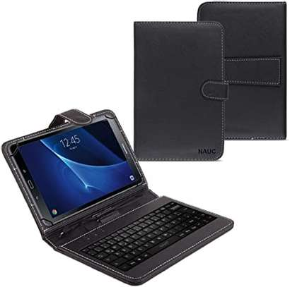 Universal Folding Leather Folio Case Cover Stand & Micro USB Keyboard for image 3