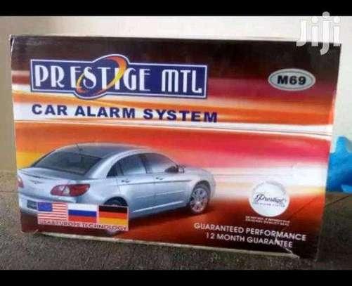 Prestige car alarm with cutoff, free installation image 1