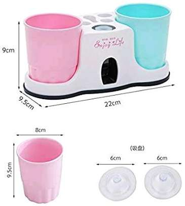 3 in vacuum suction cups, Automatic toothpaste dispenser image 3