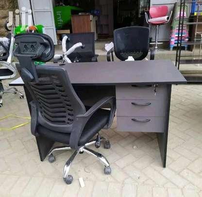 Laptop work desk plus an adjustable office desk chair N11G image 1
