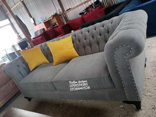 Three seater sofa/sofas for sale/chesterfield sofas/grey sofas for sale in Nairobi image 3