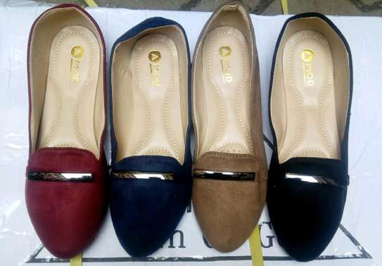 Ladies suede doll shoes