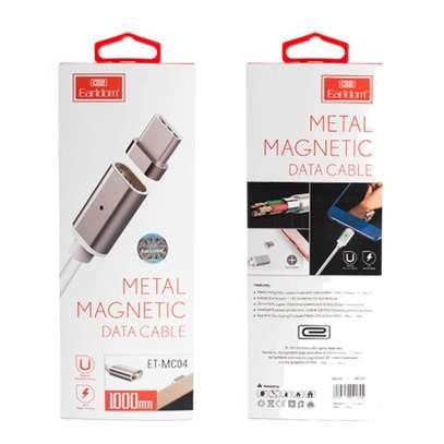 Earldom ET MC04 2 In 1 Metal Magic Magnetic Data Cable Type C - 1M image 1