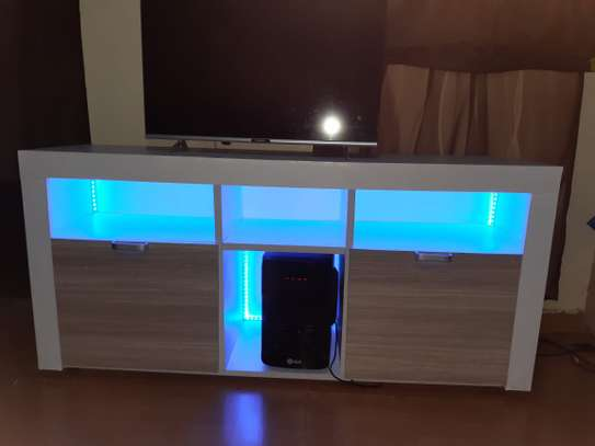 TV stand with LED image 1