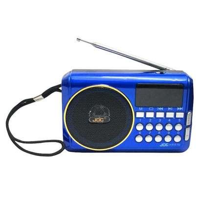 Joc Fm Radio Rechargable Digital Selects Music Player/Fm Radio with usb and memory slot - Blue image 1