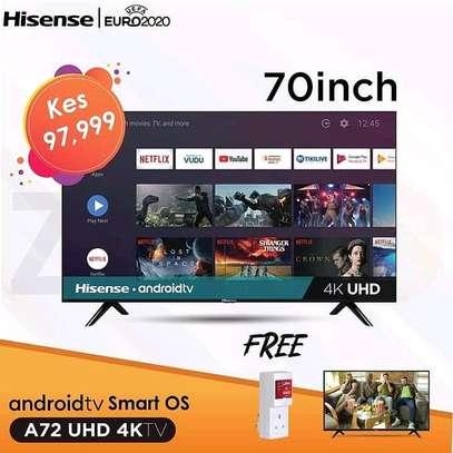 70 Hisense Android Frameless LED TV - Black image 1