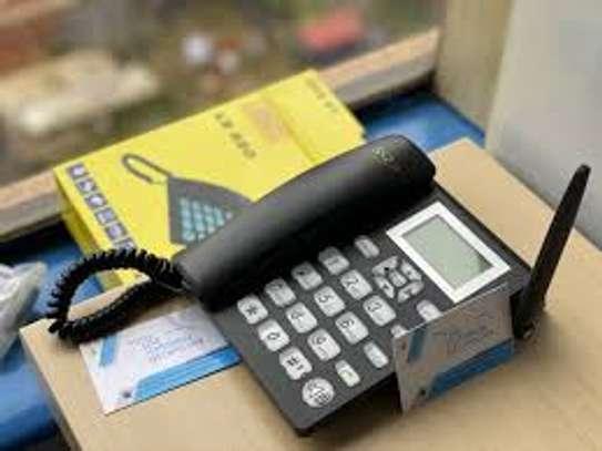 SQ Mobile Wireless Desktop Phone Landline With Dual Sim Card Slot image 1