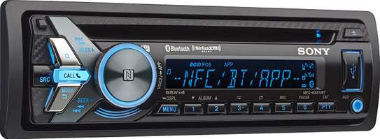 Sony MEX-N4300BT Built-in Dual Bluetooth Voice Command CD/MP3 AM/FM Radio Front USB AUX Pandora Spotify iHeartRadio iPod / iPhone Siri and Android Controls Car Stereo Receiver image 1