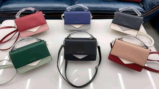 Black and purple classic fancy handbags image 1