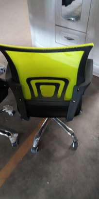 Adjustable desk chair with wheels image 1