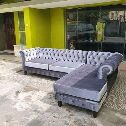 Quality 5 seater Lsofas with modern fabrics image 4