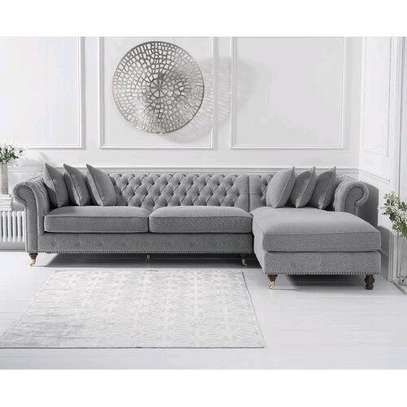 Grey chesterfield sofas/Three seater sofas for sale in Nairobi Kenya/six seater L seat image 1