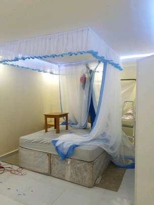 Brand new custom made Rail shears mosquito nets sliding like curtains fixed on the ceiling image 6
