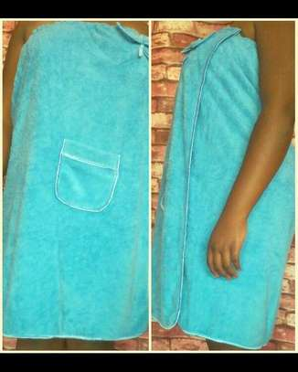 LADIES bath and swimming towels - blue