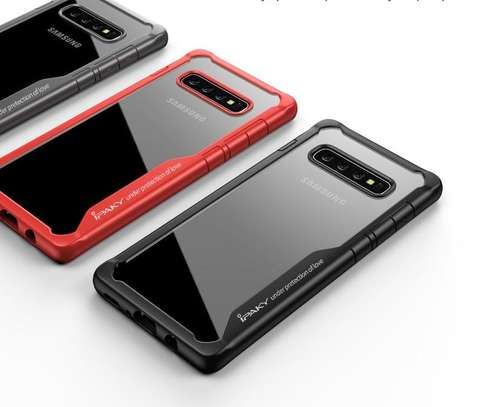 IPAKY Hybrid Shockproof Transparent Case for Samsung S10 S10e S10 Plus image 4