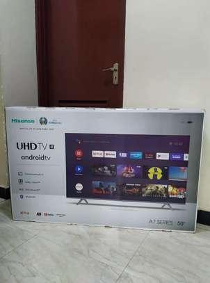 Hisense 50 inch android UHD 4k frameless tv image 1