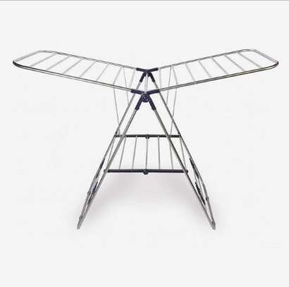 Outdoor clothes drying rack image 1