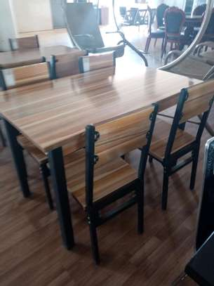 Classy wooden 4 seats dining table image 1