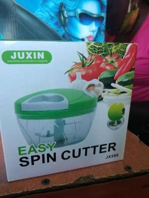 Awesome Easy Spin Cutter Hand Pull Blender Slicer Cutter Chopper Onion image 3