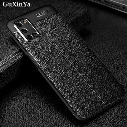 Auto Focus Leather Pattern Soft TPU Back Case Cover for Oppo A92 image 3