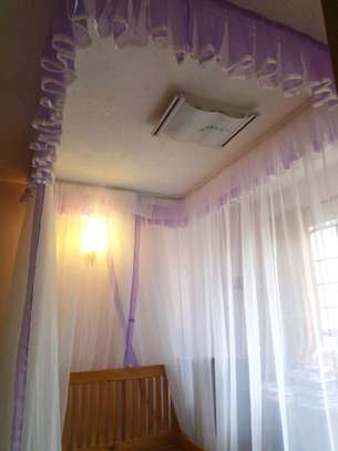 Brand new custom made Rail shears mosquito nets sliding like curtains fixed on the ceiling image 2