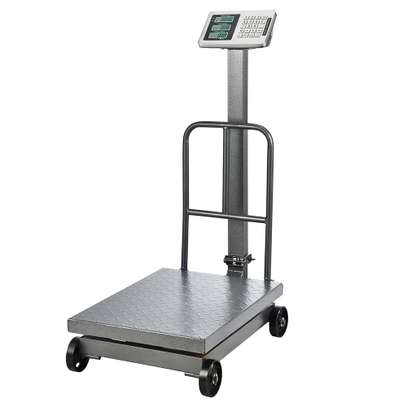 OEM Industrial 600kg Floor Platform Weighing Scale With Wheels image 1