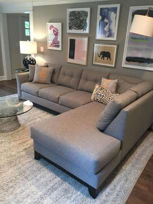 Six seater tufted L shaped sofas for sale in Nairobi Kenya image 1
