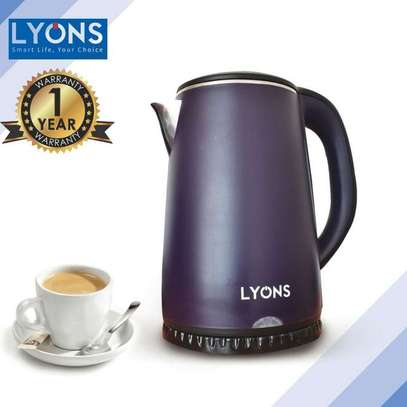 Lyons electric kettle- purple image 1