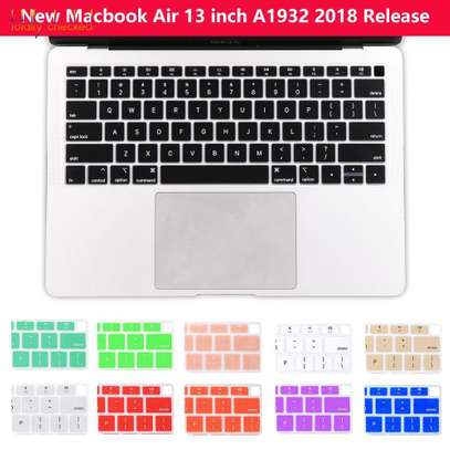 2018 2019 MacBook Air Keyboard Cover Skin for Newest MacBook Air 13-Inch with Touch ID Version Model A1932 Silicone Water-Proof Protector US Layout.