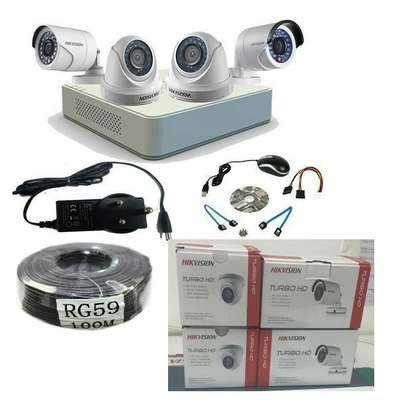 4 cctv  camera complete package image 2