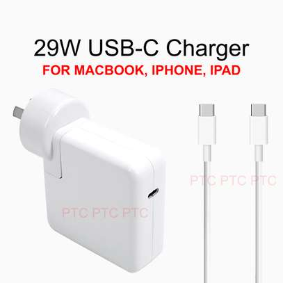 87W/61W/29W USB-C Power Adapter Charger - with USB-C to USB-C Charge Cable image 1