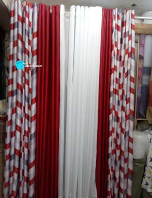 red customized double sided curtains image 1