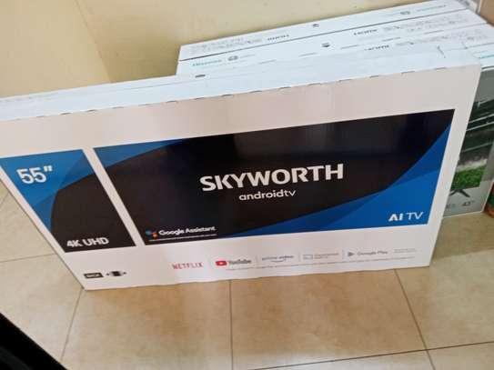 55 Skyworth Android 4K UHD TV - End Month Super Sale image 1