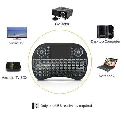 Backlit Mini Wireless Keyboard With Touchpad and Multimedia Keys for Android TV Box image 3